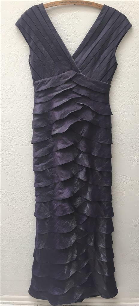 Adrianna Papel Occasions lila Tierot Shimmery Mermaid Dress Gown Formal Prom