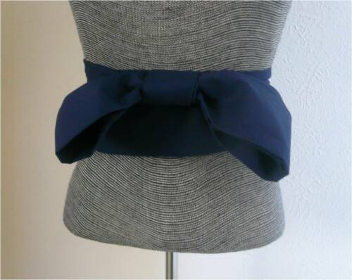 "Japanese Cotton OBI Sash Belt Kimono Yukata Wedding Navy Blue  4/"" W x 110/"" L"