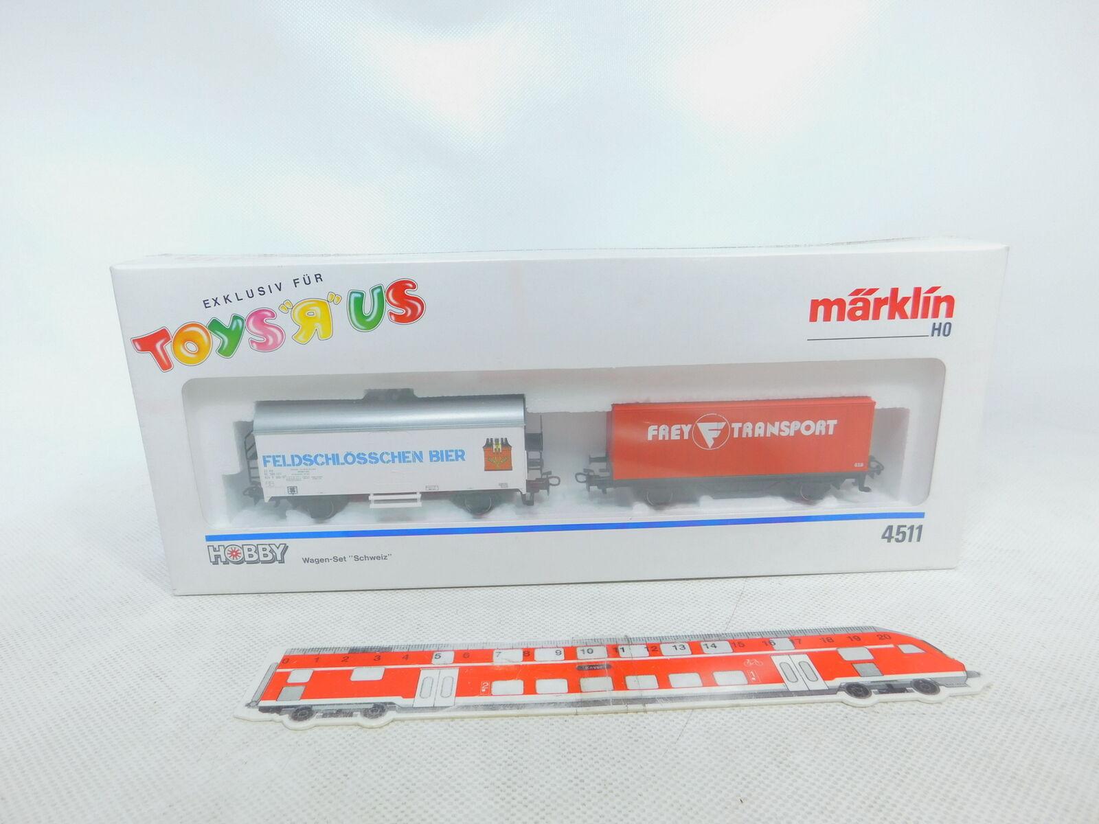 Bz538-0,5 Märklin H0   Ac 4511 Set de Vagones Suiza Nuevo + Emb.orig,sin Abrir