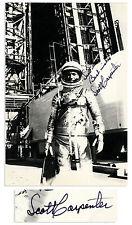 Striking Signed Photo, Scott Carpenter in His Spacesuit