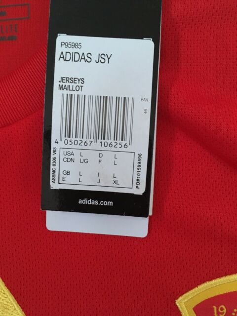 Digital lotería Empotrar  Adidas Spain Home Jersey World Cup 2018 Size L for sale online