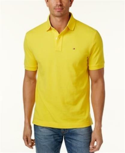 58b10d54 Tommy Hilfiger Yellow Mens Size XL Custom Fit Polo Rugby Shirt #054 for  sale online | eBay