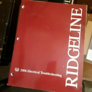 Honda Ridgeline 2006 Electrical Troubleshooting Manual Wiring Diagrams 29 Ebay