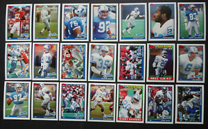 1991-Topps-Detroit-Lions-Team-Set-of-21-Football-Cards
