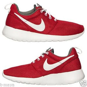 the best attitude e8ad0 18089 Details about NIKE ROSHE ONE BOY's GS CASUAL GYM RED - DARK GREY - WHITE  BRAND NEW AUTHENTIC