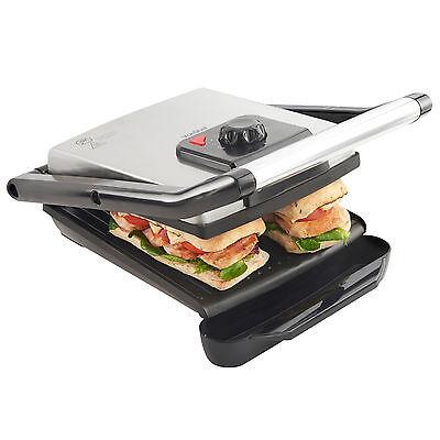 VonShef 2-in-1 Health Grill Griddle / Panini Sandwich Press / Toastie Maker