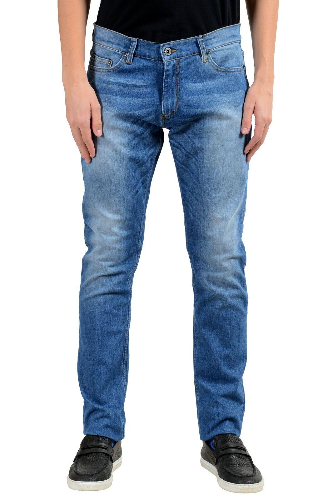 Roberto Cavalli Men's bluee Stretch Slim Jeans Size 34 36 38