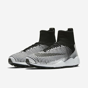 Image is loading nike-Zoom-Mercurial-XI-Flyknit-FC-BLACK-WHITE-