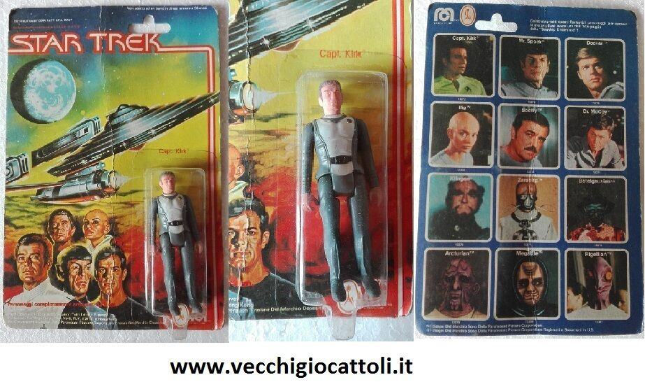 Mego Star Trek personaggio Capitano Captain Kirk MOC 1979