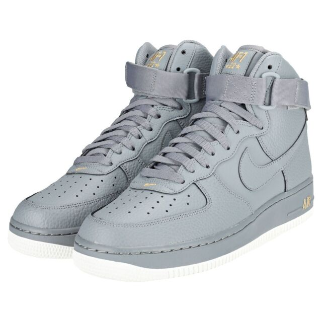 NIKE Men's Air Force 1 '07 High Top Sneaker (Cool Grey/Cool Grey)