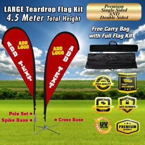 8.6/' Full Color Custom Flag Teardrop Advertising Sign Blade Banner Kit