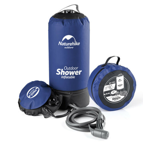 Portable Inflatable Outdoor Shower Bag Folding Barrel Camping Water Storage 11L