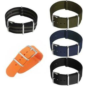 New-Watches-Strap-Nylon-Men-Wrist-18mm-20mm-22mm-Smart-Military-Zulu-Pin-Straps