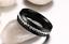 Anello-Anelli-Fede-Fedina-Fascia-Uomo-Donna-Unisex-Acciaio-Cristallo-Nero-Black miniatura 3