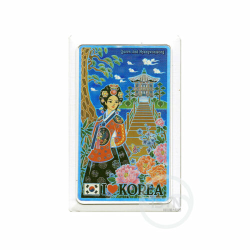 Korea Fridge Magnet 6p Cultural Heritage Hanbok Refrigerator Magnets Memo Holder