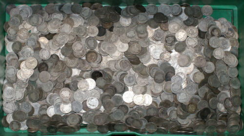 1892-1916 Lot of 10 Silver Barber Dimes 10C AG