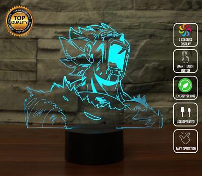 Dragon Ball Z Vegeta 3D Acrylic LED Night Light Touch Table Desk Lamp Xmas Gifts