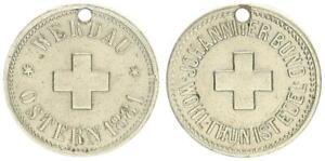 Werdau, Marca El Johanniter Para Pascua 1881 , Superior Agujereado EBC , 57854