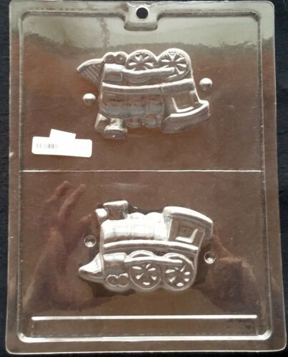 Train 3-D Engine Locomotive Chocolate Plastic Candy Soap Molds LOP K-45