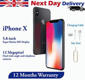 Apple iPhone X 64 Go 256 Go Débloqué Smartphone Sans SIM Argent/Gris sidéral