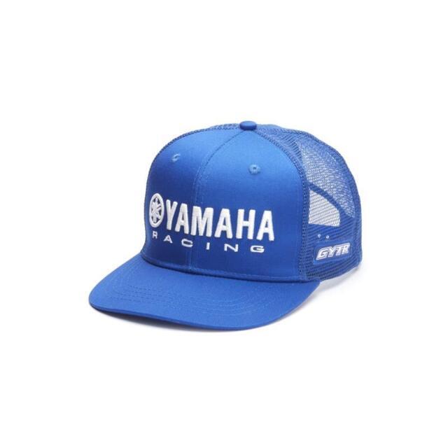 eb10c482184d2 Official Yamaha Racing Paddock Blue GYTR Adults Flat Peak Mesh Baseball Cap