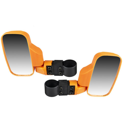 Orange UTV Side View Mirror Kit for Kawasaki Mule 2510 2520 3000 3010 4000