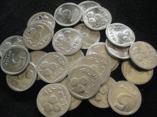 Israel 5  Agorot 1978  CH BU lot of 25 BU coins