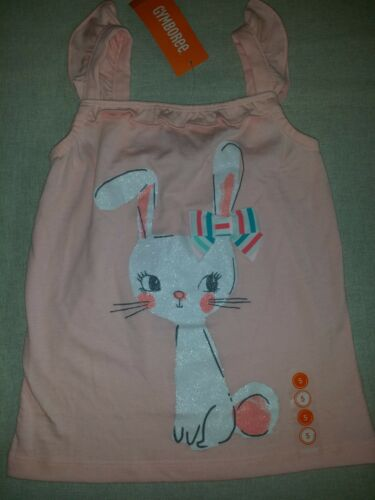 Gymboree ICE CREAM PARLOR Pink Bow Bunny Rabbit Ruffle Sparkle Tank Top NWT 5 6