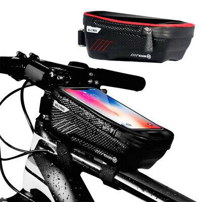 Waterproof Bike Bag Bicycle Frame Pannier Cross Bar Top Tube Mobile Phone Holder