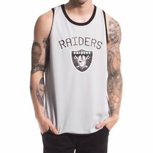 f6a66604 Details about NFL Oakland Raiders Poly Mesh Vest Mens L XL T Shirt Official  Apparel Jersey