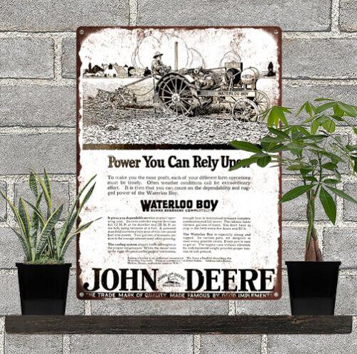 "1920 JOHN DEERE WATERLOO BOY KEROSENE TRACTOR Metal Sign Repro 9x12/"" 60531"