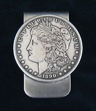 MORGAN SILVER DOLLAR MONEY CLIP  (NOTE) DATES MAY DIFFER UNLESS REQUESTED).