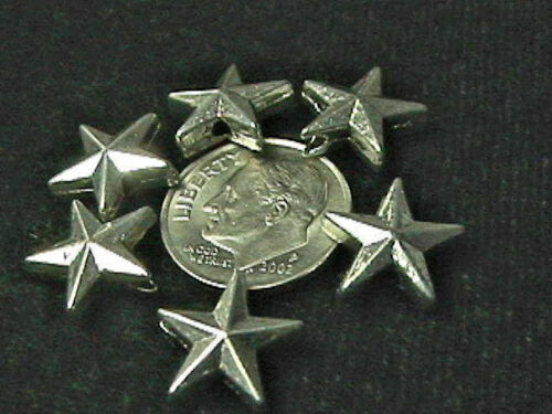 12mm x 13mm Pewter Star Beads TEN BEADS MFP-1579 Lead-Safe 10