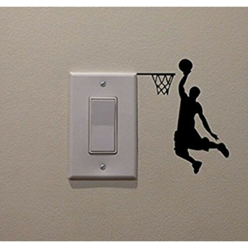 Joueur de Basket-ball SAGANE Wall Sticker Vinyl bricolage Home Decor Decals Sport