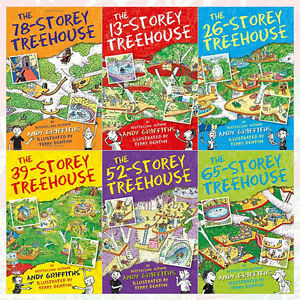 Andy griffiths treehouse series collection 6 books set 78 for Bureau 13 book series