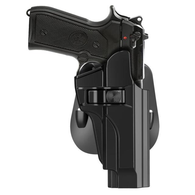 OWB Holster Fits Beretta 92FS M9 M9A1 M9_22 Handgun Index Finger Release  Paddle