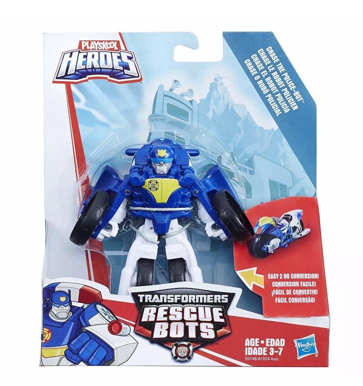 Chase MOTORCYCLE polizia Bot version -  Transformers Rescue Heroes - Playskool  più economico