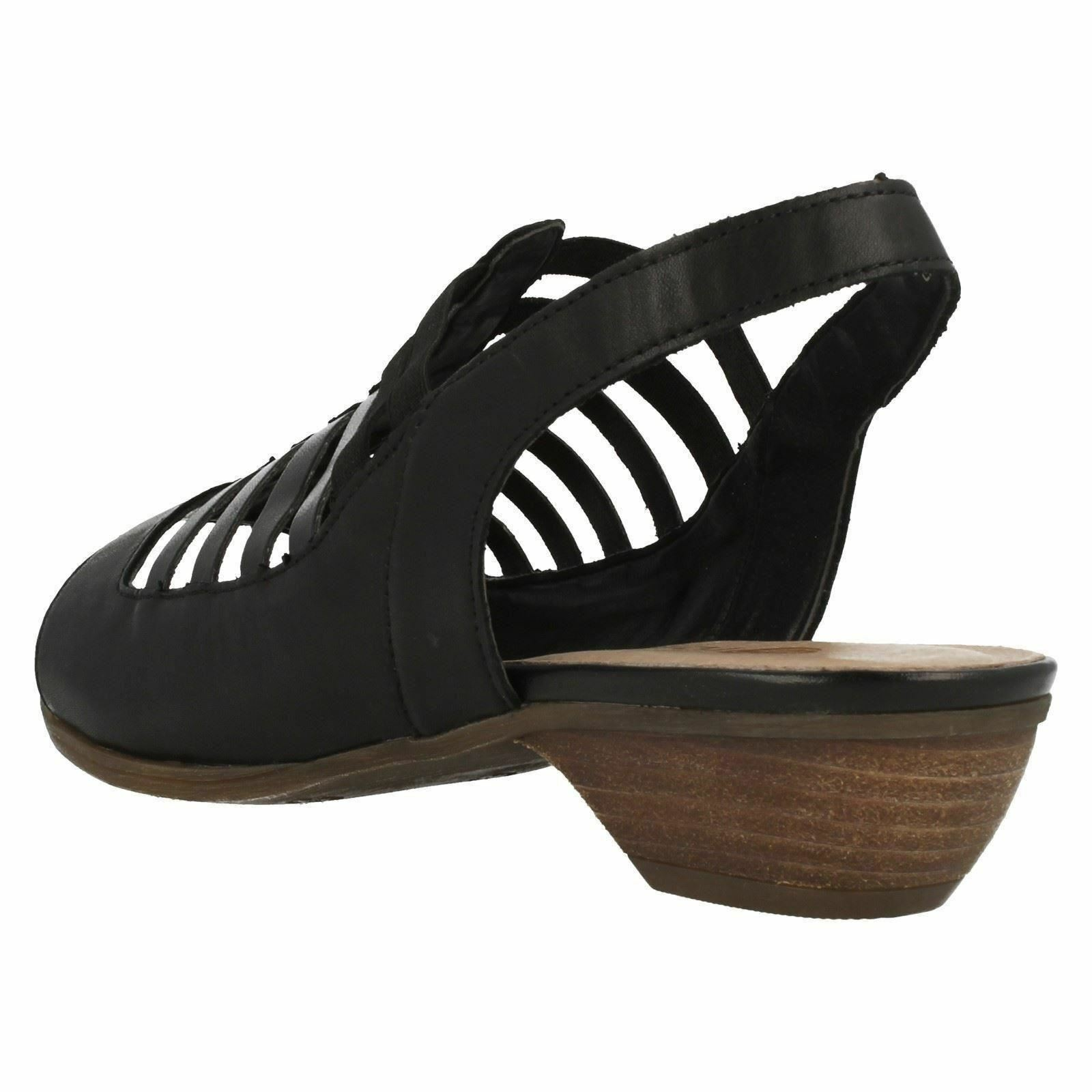 Damen mit schwarz LEDER REMONTE mit Damen Absatz zehenfrei Sommer Sandalen r0853 a5fd88