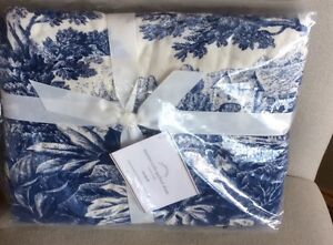 Pottery Barn Matine Toile Quilted Standard Sham Twilight