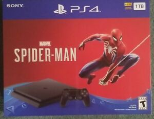 Sony-PlayStation-4-Slim-1TB-Gaming-Console-PS4-Spider-Man-Bundle-BRAND-NEW