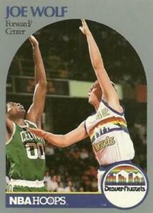 #412 Joe Wolf - Denver Nuggets - 1990-91 Hoops Basketball