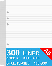 3 Pack A5 Lined Refills Paper For Filofax Plannerbindersorganizer 6 Hole 300