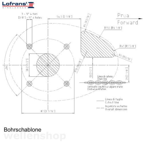 Zubehör X0 Lofrans Elektrische Ankerwinde Boot 6 mm Ankerkette Ankerwinsch Motorwinde