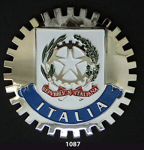 CREST CAR GRILLE EMBLEM BADGES ITALIA