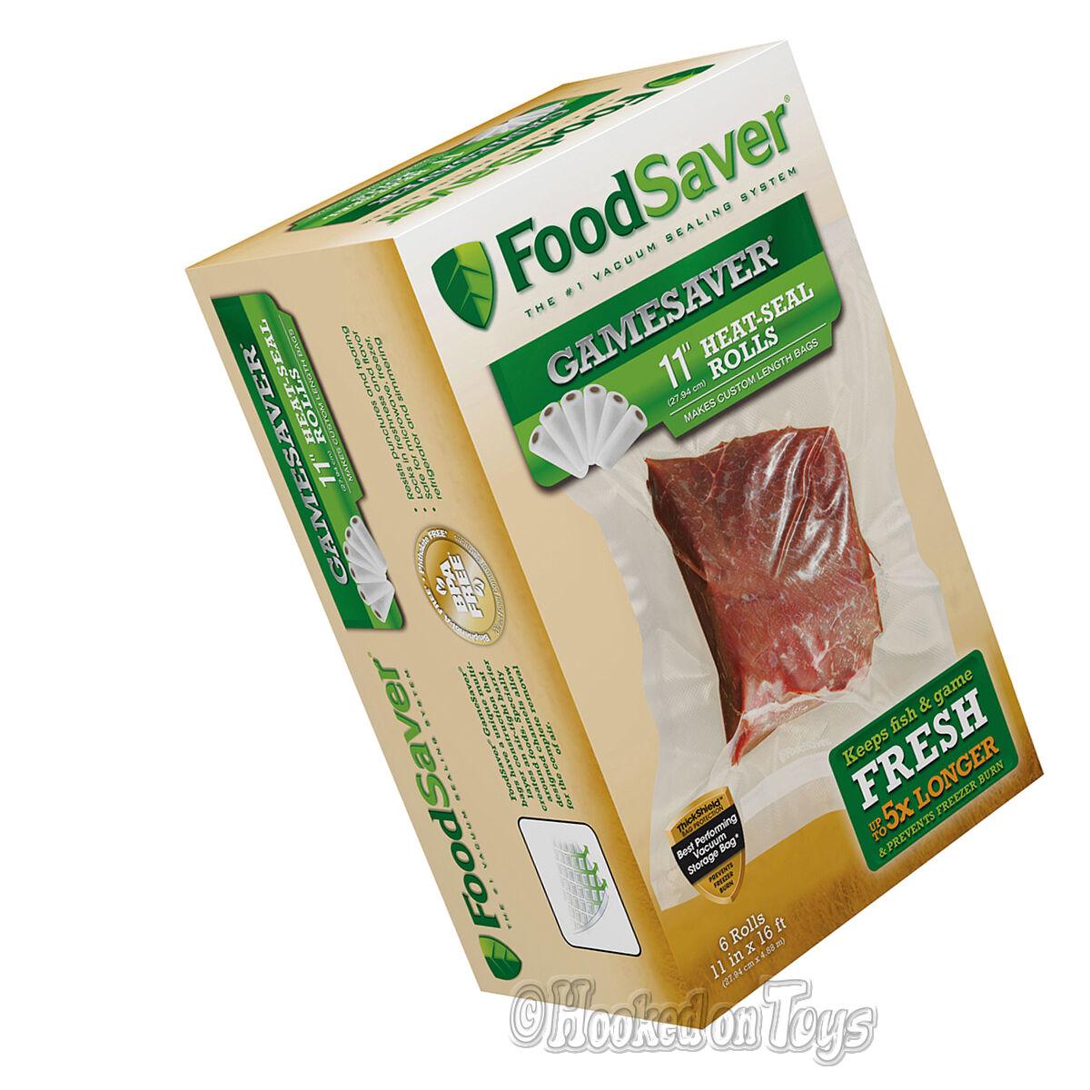 FoodSaver-GameSaver 6pk 11  x 16' long rouleaux pour scelleuse sous vide fsgsbf 0644-P00