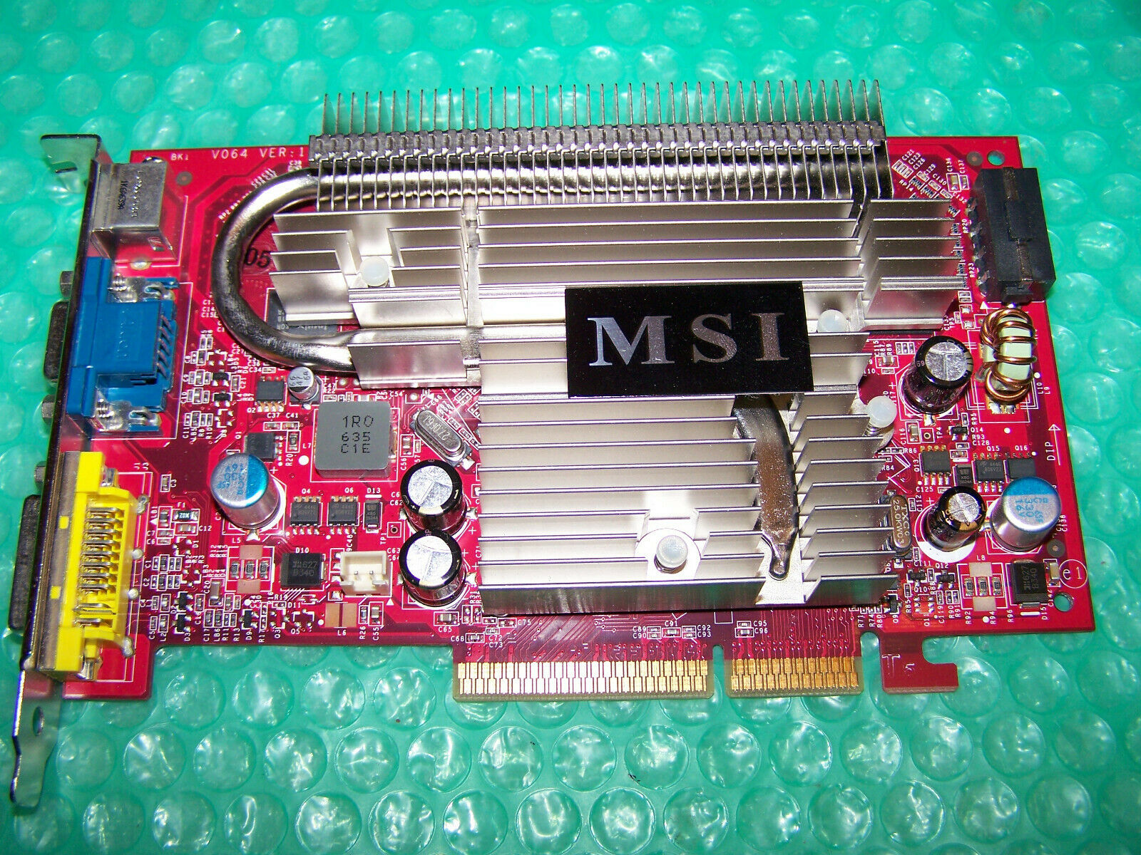 MSI GeForce 7600GS 512MB AGP graphics card, Win 7/8 compatible, Tested