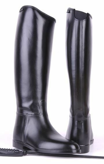 HKM Ladies Elasticated Insert Waterproof Spur Soft Standard Horse Riding Boots