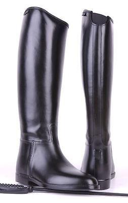 Hkm Donna Inserto Elasticizzato Impermeabile Cilindrici Standard Morbido Stivali Cavallerizza Cavallo- Buona Reputazione Nel Mondo