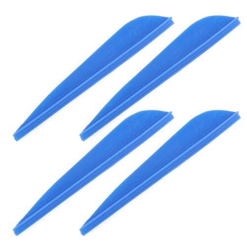50x 3/'/' Plastic Shield-shaped Hunting Arrow Vane TPU Fletch fit for Bow Archery.