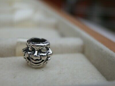 Authentic Trollbeads Five Faces 11142 Retired New Silver Charm Bead